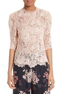 Rebecca Taylor Rebecca Taylor Arella Lace Top available at #Nordstrom