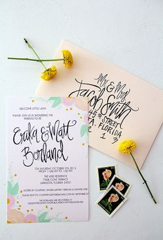 calligraphy + watercolor