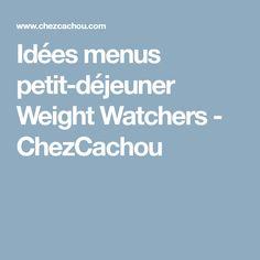 Idées menus petit-déjeuner Weight Watchers - ChezCachou