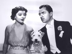 Myron Loy and William Powell- and don't forget Asta!