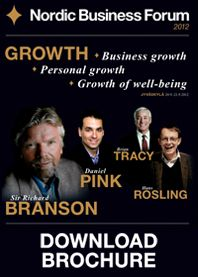 Nordic Business Forum. Branson, Tracy, Pink, Rosling...