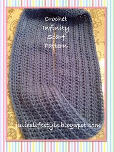 Julie's Lifestyle: Crocheted Infinity Scarf & Pattern