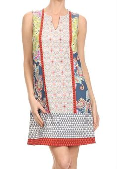 Perfect casual dress. Shop boho clothes at www.indigobleufashion.com