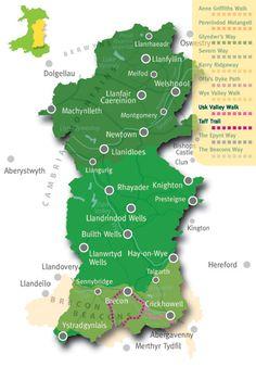 Explore Mid Wales: usk valley walk & taff trail