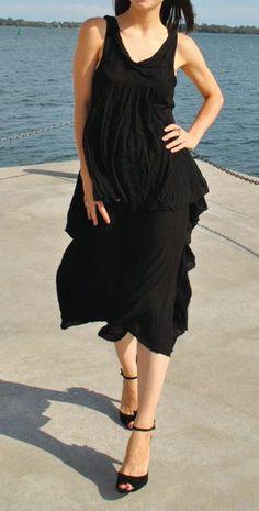 Black Dancing Queen Sleeveless Dress