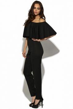 7c969b27052 Graceful off shoulder ruffles solid fashion women jumpsuit