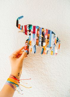 Did you know today is national elephant appricaition day? Make this elephant magazine craft http://blog.puravidabracelets.com/elephant-magazine-silhouette-art