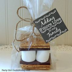 S'mores Favor Tag Baby Shower Favors Printable by PartyGirlCouture