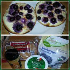 Yummy Weight Watchers breakfast: toasted whole wheat sandwich thin, skim ricotta cheese, Splenda, cinnamon and blueberries (fresh or frozen) broiled for minutes. Only 5 points! Weight Watchers Tips, Weight Watchers Breakfast, Healthy Eats, Healthy Snacks, Healthy Recipes, Sandwich Thins, 7 Minutes, Blueberries, Ricotta