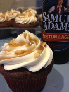 Blow away your guests with these unforgettable cupcakes made with Sam Adams Boston Lager