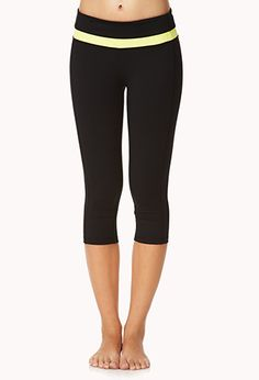 Colorblocked Workout Capris | FOREVER 21 - 2000051691