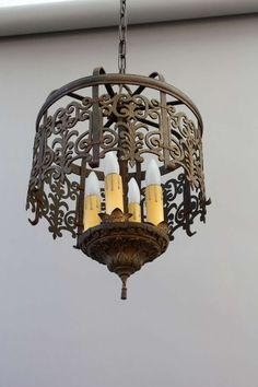 1stdibs Classic Spanish Revival Chandelier With Cast Filigree