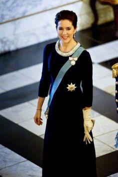 Crown Princess Mary of Denmark received the chiefs of the Diplomatic Corps in the Rider's Hall during the New Year's Court in Christiansborg Palace on 06.01.2015