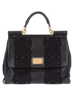 Dolce & Gabbana Lace Insert Bag - Francis Ferent - farfetch.com - StyleSays