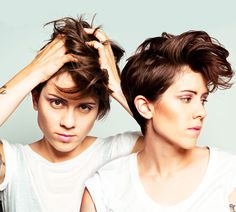 Tegan and Sara Heartthrob (my hair will be looking a lot more like this soon)