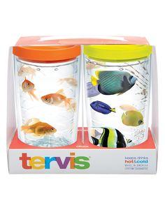 Fun Fish 2-pack Gift Set - 16oz Wraps with Lids | 16oz Tumbler | Tervis®