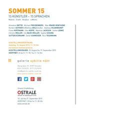 Folder Rückseite Einladung zur Ausstellung SOMMER 15 in der gallery sybille nuett Dresden