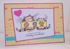 "The Birthday Party "" set by penny black , this would be purrfect for my sister in law card made by Jane Middleton"