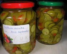Pikáns cukkini savanyúság | Zsuzsa56 (Zsuzsa ízutazásai blog) receptje - Cookpad receptek Pickles, Cucumber, Food, Red Peppers, Essen, Meals, Pickle, Yemek, Zucchini