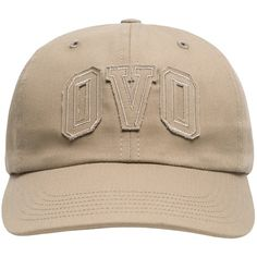 OVO SPORTCAP KHAKI ($50) ❤ liked on Polyvore featuring hats
