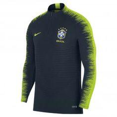 06fb9089aed 2018-2019 Brazil Nike Strike Vapor Knit Drill Top (Navy). Football Shirts  ...