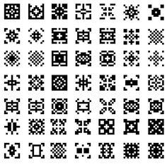 ストックしておきたい! 幾何学模様のピクセル・スォッチパターン129個(商用可・AI) - Free-Style