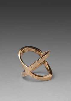 LOW LUV X ERIN WASSON Crystal Point Ring in Gold at Revolve Clothing