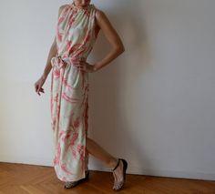 Grecian longtemps élégant style Robe maxi / volants par MuguetMilan