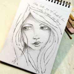 """she let go of hurt to make space for joy""  #sketching #girlart #artsketch #sketch #face #pencilsketch #toniburt #letgo #joy #spaceforjoy"