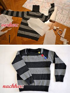 Jungspulli aus allem Rollkragenpullover der Mutter / Boys' jumper made of mother's old turtleneck jumper