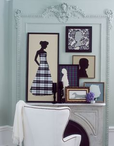 A fabulous Silhouette tutorial. There are so many ways to use silhouette! I have loved and used silhouette for over 40 years so exciting to see new ideas. Diy Décoration, Diy Crafts, Art Clip, Jones Design Company, Wall Groupings, Picture Groupings, Picture Arrangements, Silhouette Art, Silhouette Pictures