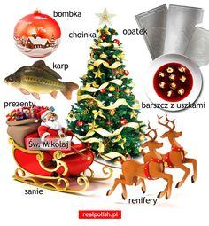 Polish Christmas, Cosy Christmas, Christmas Words, Christmas Bulbs, Polish Alphabet, Learn Polish, Polish Language, Polish Recipes, English Vocabulary