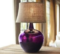 Clift Glass Table Lamp Base - Eggplant #potterybarn #CambriaStyle