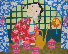 Introduction site Jinshan peasant painting painting Chinese farmers   (painter farmers) where permanent land Chinese Painting, Chinese Art, 2nd Grade Art, Farm Art, Naive Art, Pretty Art, Religious Art, Painting Patterns, Asian Art