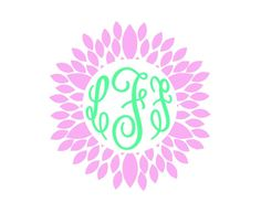 New to FrannysShop1 on Etsy: Flower Border Monogram Decal (6.00 USD)