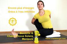La bouteille i9 jaune pour renforcer le chakra Plexus solaire Manipura, idéale pour augmenter son équilibre émotionnel. C'est LA bouteille à emmener à son cours de yoga!