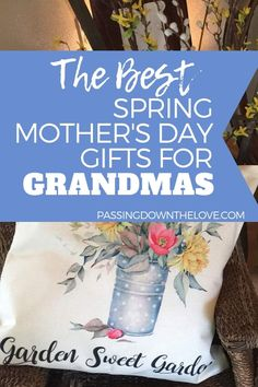 Spring Gifts for Grandmas They couldn't have picked a better time of year to celebrate Mothers Day. Spring related items make the best Mothers Day gifts for Grandma. Here are a few ideas for Spring Mothers Day gifts for Grandma. Birthday Gifts For Grandma, 80th Birthday Gifts, Unique Mothers Day Gifts, Mother Day Gifts, Gifts For Mom, Birthday Ideas, New Grandma, Grandmother Gifts, Grandmothers