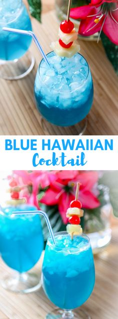 BLUE HAWAIIAN RECIPE #Cocktail #Summer