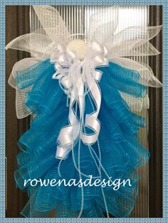 Blue Angel Wreath Deco Mesh Rowena's Design