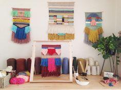 Weaving studio of Maryanne Moodie  www.maryannemoodie.com