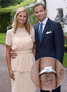 Princess Madeline of Sweden Royal Engagement Rings, Celebrity Engagement Rings, Royal Rings, Royal Jewels, Crown Jewels, Royal Monarchy, Royal Diamond, Hamptons Style Homes, Royal Christmas