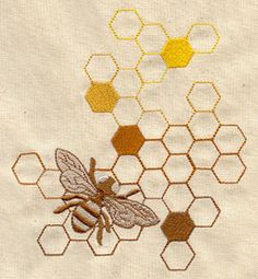 Sweet as Honey - Thread List | Urban Threads: Unique and Awesome Embroidery Designs
