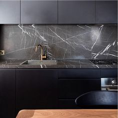 Nero marquina honed marble countertops