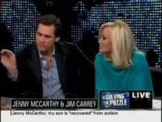 Jim Carrey and Jenny McCarthy talk about vaccines,  autism prevention and autism cures.