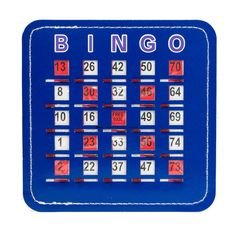 Senior Friendly Quick Clear Stitched BLUE Bingo Shutter Cards | Casino Supply