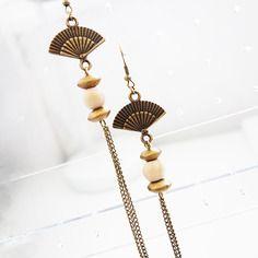 Boucles d'oreilles d'influences ethnique-chic BoutiKaymaman  #bijoux #mode #tendance #style #boutikaymaman #boucles_oreilles #femme #look #ethnique