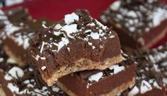 Raw Chewy Chocolate Squares