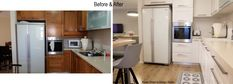 before and after painting kitchen