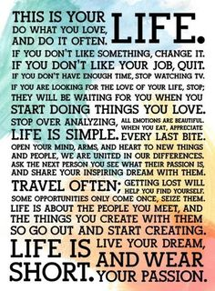This is your life ...