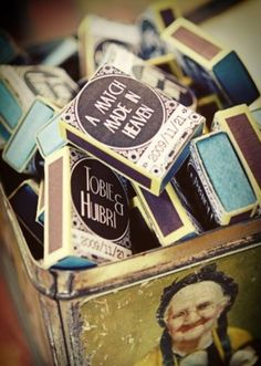 personalized match boxes. Match Made in Mexico. #MyIowaWedding